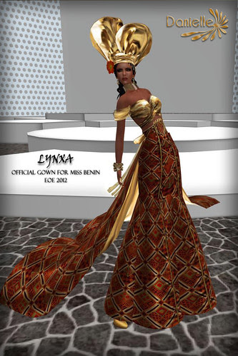 OFFICIAL GOWN MISS BENIN FOR EOE 2012 BY DANIELLE
