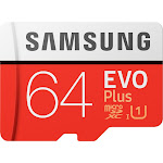 Samsung - EVO Plus 64GB microSDXC UHS-I Memory Card