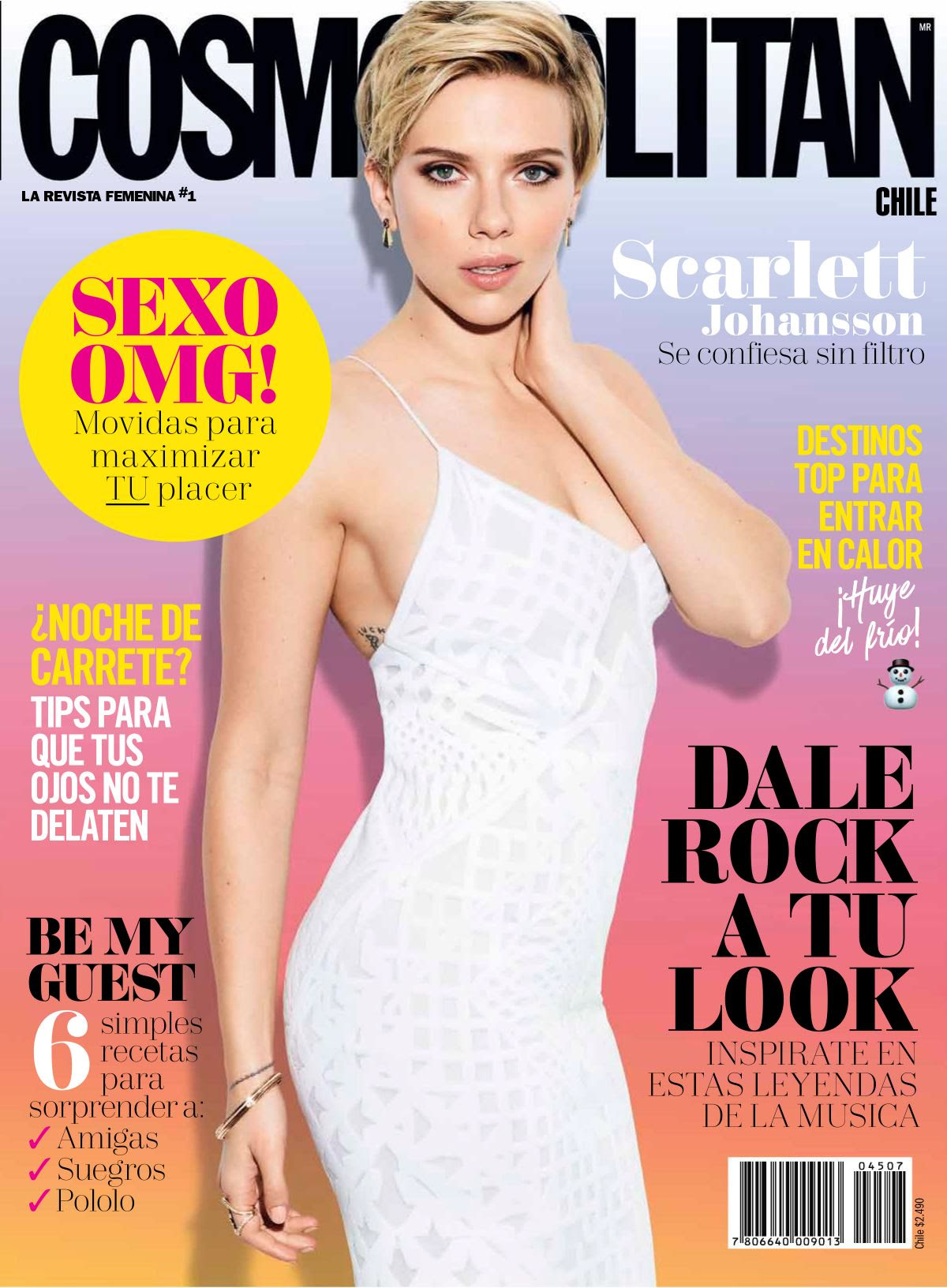 SCARLETT JOHANSSON in Cosmopolitan Magazine, Chile July 2017