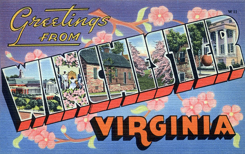Greetings from Winchester, Virginia - Large Letter Postcard