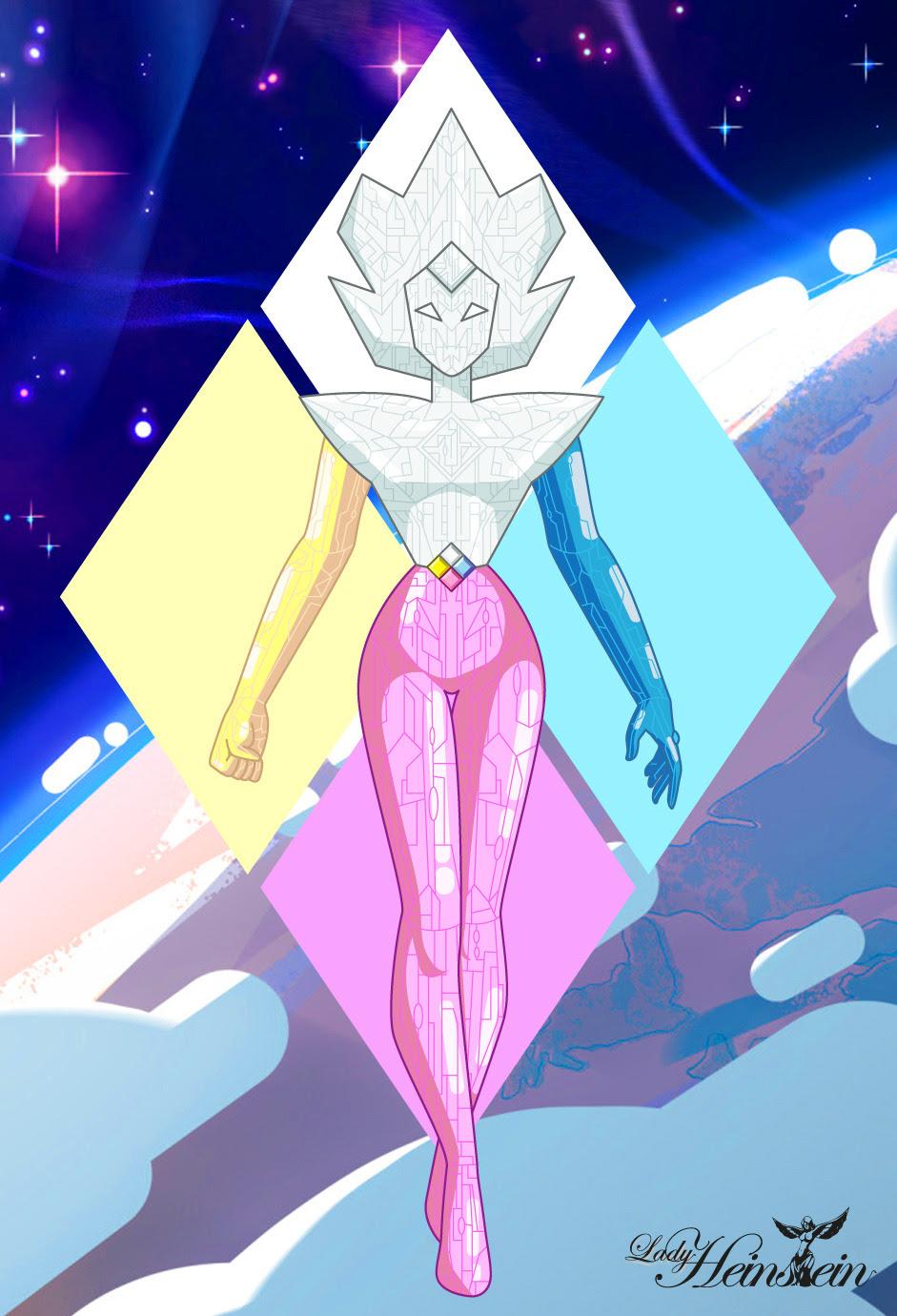 """The Diamond Ship Con el especial """"Wanted"""" de Steven Universe nos revelan que posiblemente las naves de las diamantes puedan ensamblarse para formar un robot gigante, siendo Diamante Blanco el torso y..."""