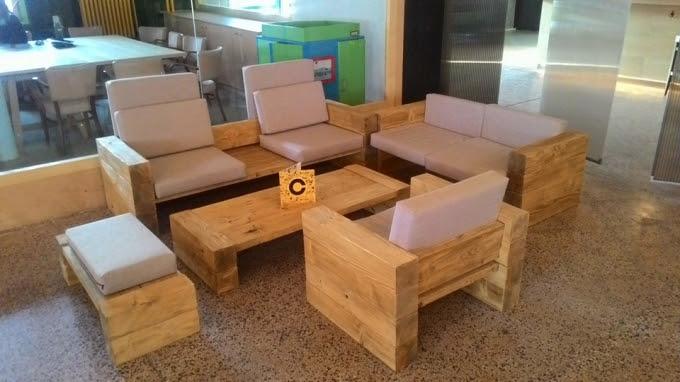 Wooden Pallet Couch Set | Pallet Ideas