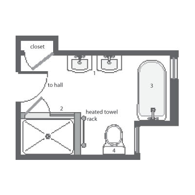 Bathroom Design Tool on Improved Floor Plan   Fitting A Period Bath Under The Attic Rafters