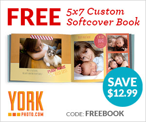 Free 5X7 Custom Softcover Photo Book – Save $12.99!