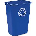 Rubbermaid Commercial Deskside Recycle Container, Blue, 41.25 Quart