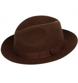 Brown Classic Newbury Wool Trilby Christys Hats