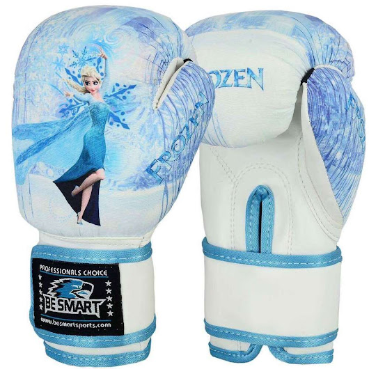 Details about FROZEN Kids Boxing Gloves Junior Mitts 4oz 6oz Punch Bag Children MMA Youth