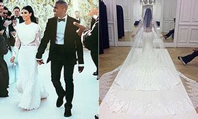 Kim Kardashian's wedding dress   Photo