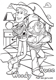 disney toy story 4 woody and buzz coloring pages for kids  free printable coloring pages for kids