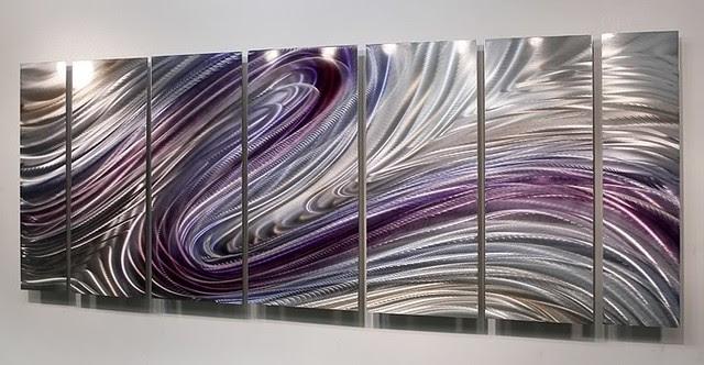 Purple Art - Wild Imagination metallic wall art by Jon ...