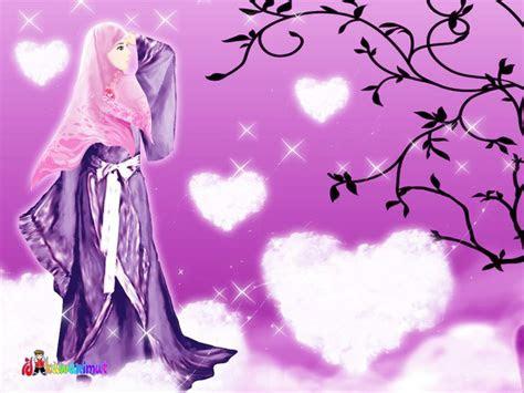 nini  pelupa kartun muslimah cantik  berjilbab