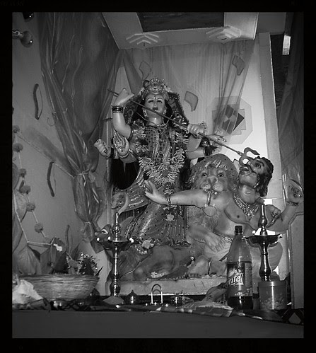 Durga Puja Bandra Bazar Road Shot By Marziya Shakir 2 And Half Years Old by firoze shakir photographerno1