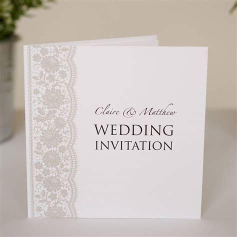 Lace Wedding Invitations For Your Wedding   Arabia Weddings
