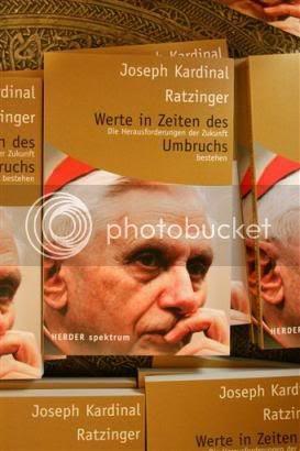 libro Valores en tiempo de agitación del Cardenal Joseph Ratzinger, ahora Benedicto XVI