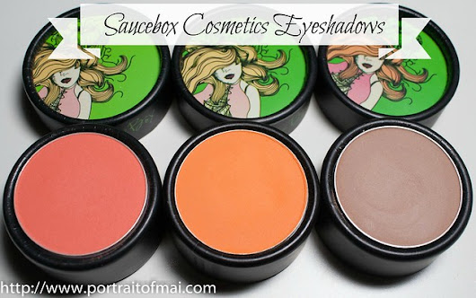Saucebox Cosmetics Eyeshadow Swatches, Review, and EOTD