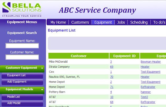 Equipment Service Software for Maintenance and Tracking of Equipment - Bella Field Service Software