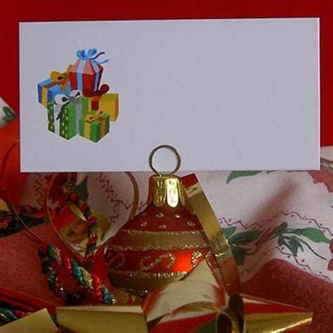 Christmas Festive Place Name Cards Wedding Office for Card