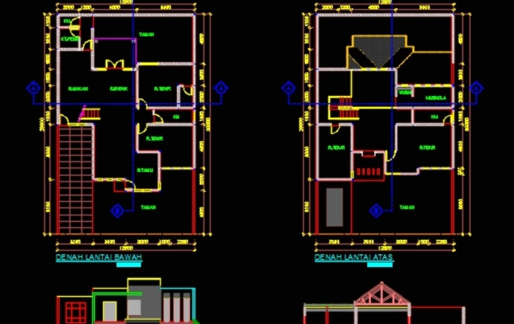 82+ Gambar Rumah Minimalis 2 Lantai Dwg HD - Gambar Rumah