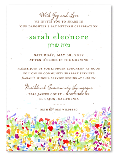 Wildflowers Prairie Invitations