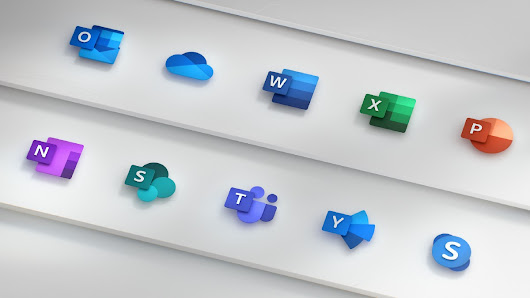 Redesigning the Office App Icons to Embrace a New World of Work