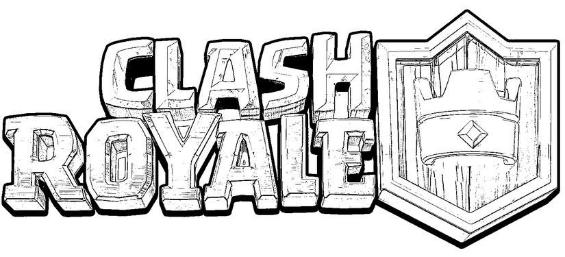 Disegno Da Colorare Clash Royale Logo Clash Royale 2