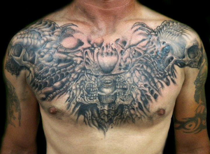 Powerline Tattoo Tattoos Body Part Chest Tattoos For Men Giger