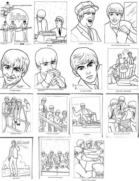 The Beatles coloring book from the 1960's. Fab! | The 1960