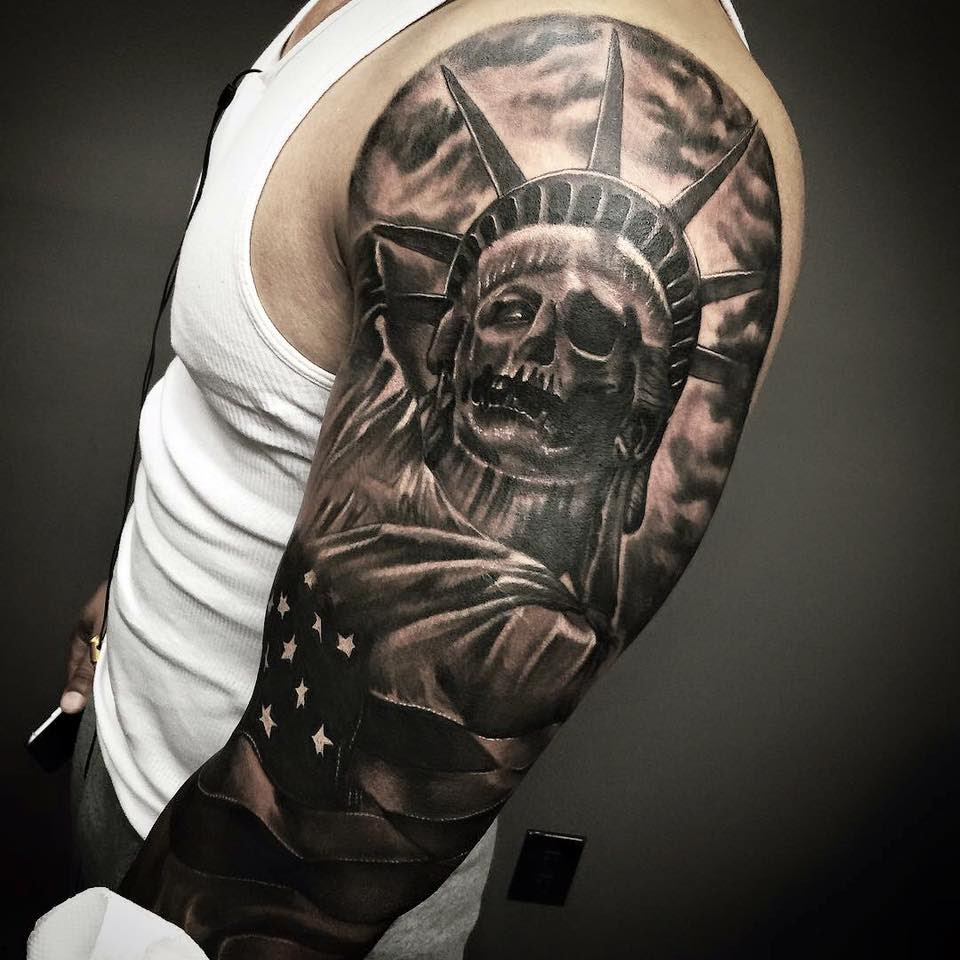 Real Skull Statue Of Liberty Tattoo Parryzcom