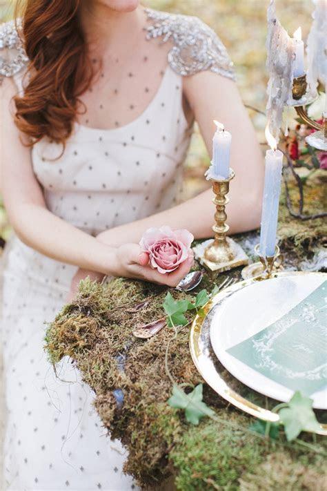 Woodland wedding table setting ideas   Enchanted Forest