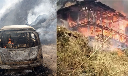 Video: Forest fire in Shimla's Rampur spreads to village, guts over 15 houses, vehicles