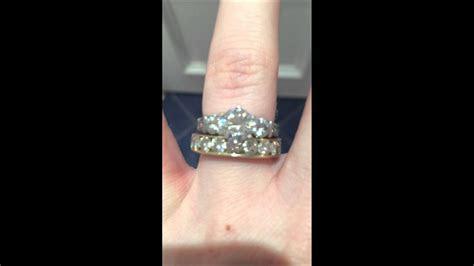 Moissanite wedding rings   YouTube