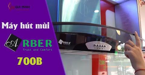 Khám phá máy hút mùi kính cong Arber AB 700B giá chưa đến 5 triệu đồng
