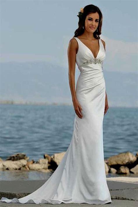Chiffon Beach Dress White Wedding Slit Promotion Shop For