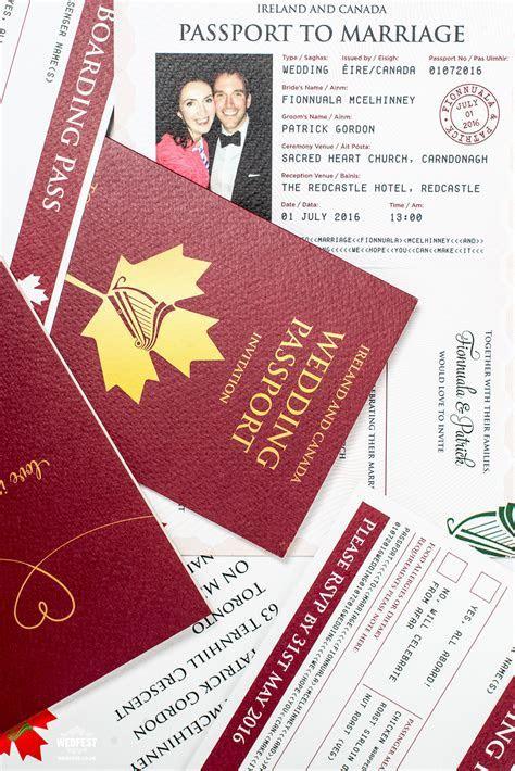 Wedding Passport Invitations   WEDFEST