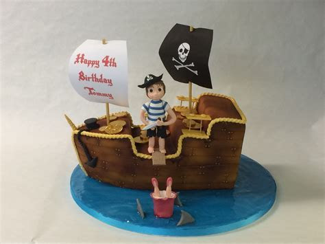 3D Pirate Ship Cake   Celebration Cakes   Cakeology