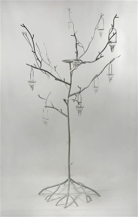White Metal Display Candle Tree 71in, Event Decor