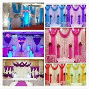 wedding decorations stage backdrop party drapes  swag