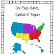 One Page States Capitals & Regions