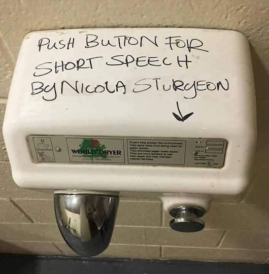 Sturgeon Gives Speech in Toilets Across the Country