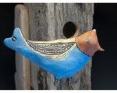 Ohio Bird - Fish Tail - Ceramic Bird Art For The Wall - jennymendes
