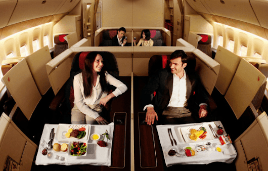 Cheapest Way To Find First Class Flights - Sunset Travellers