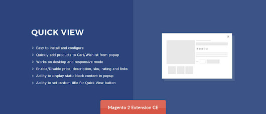 Quick View – Extension for Magento® 2