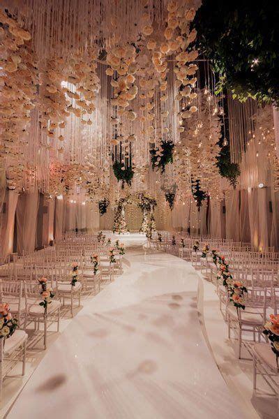Extravagant White Indoor Wedding Ceremony   Brilliance.com