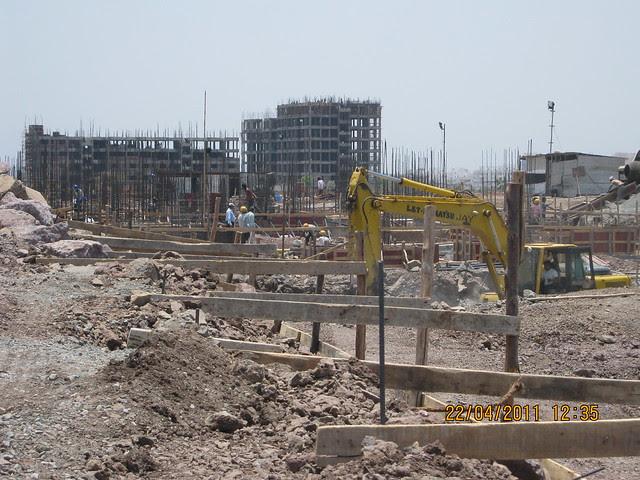 Construction in full swing at Park Springs - 2 BHK - 3 BHK Flats - Lohegaon Gram Panchayat - Dhanori - Pune 411 032 - By Pride Purple Group & Rainbow Housing