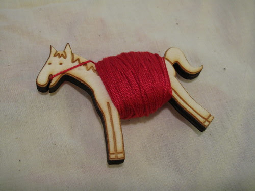 This is a pony I made to hold floss