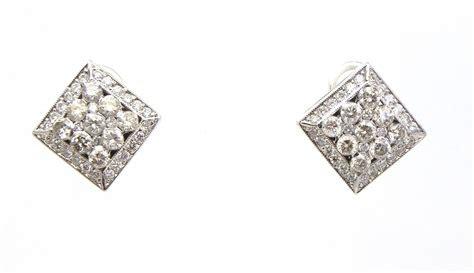 ladies  white gold  cts diamonds rhombus shape