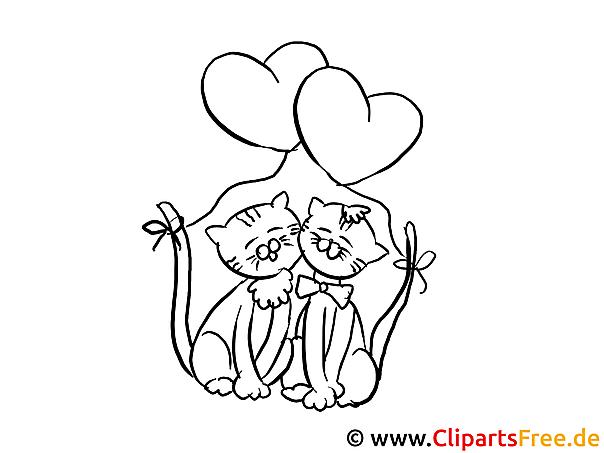katzen valentinstag ausmalbilder fuer kinder kostenlos ausdrucken