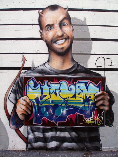 graffiti character, NYC