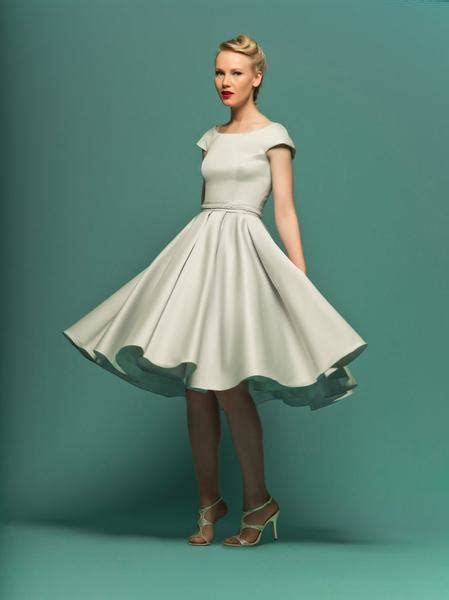 Modest Retro 50s Knee Length Formal Wedding Dress ? JoJo Shop