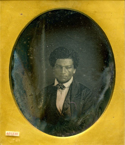 A daguerreotype of the abolitionist campaigner Frederick Douglass c1845.